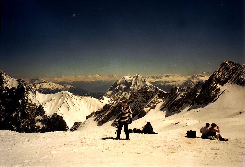Snowboarding on Zugspitze
