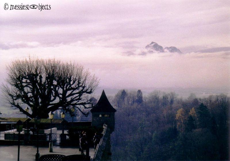 2nd Misty Overview From Hohensalzburg Castle in Salzburg, Austria