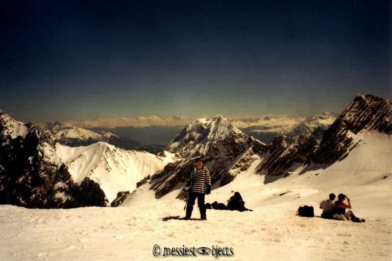 That's me Snowboarding on the Zugspitze, the Highest Alp in Germany