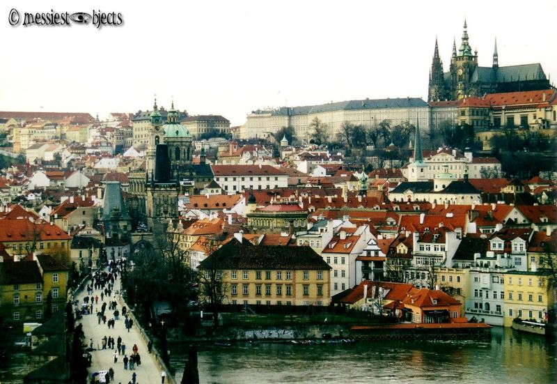 Karlovy Most (Charles Bridge) & View of Castle - View From Clock Tower
