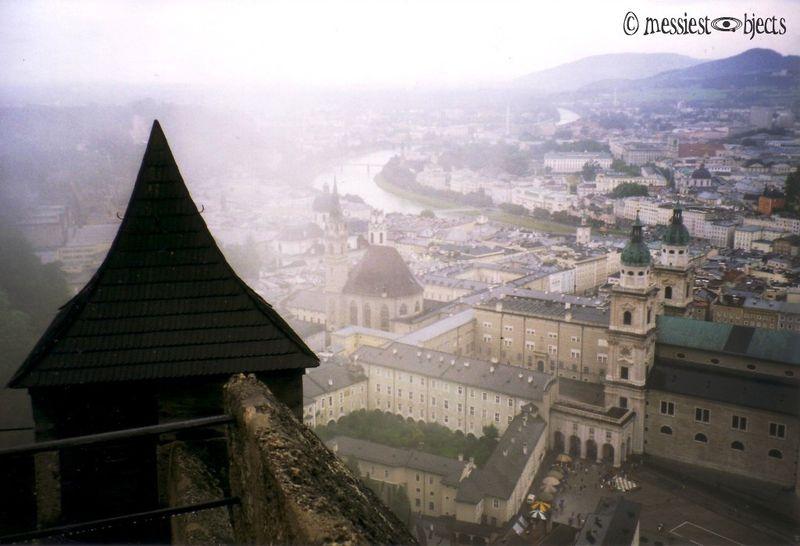 Misty Overview From Hohensalzburg Castle in Salzburg, Austria