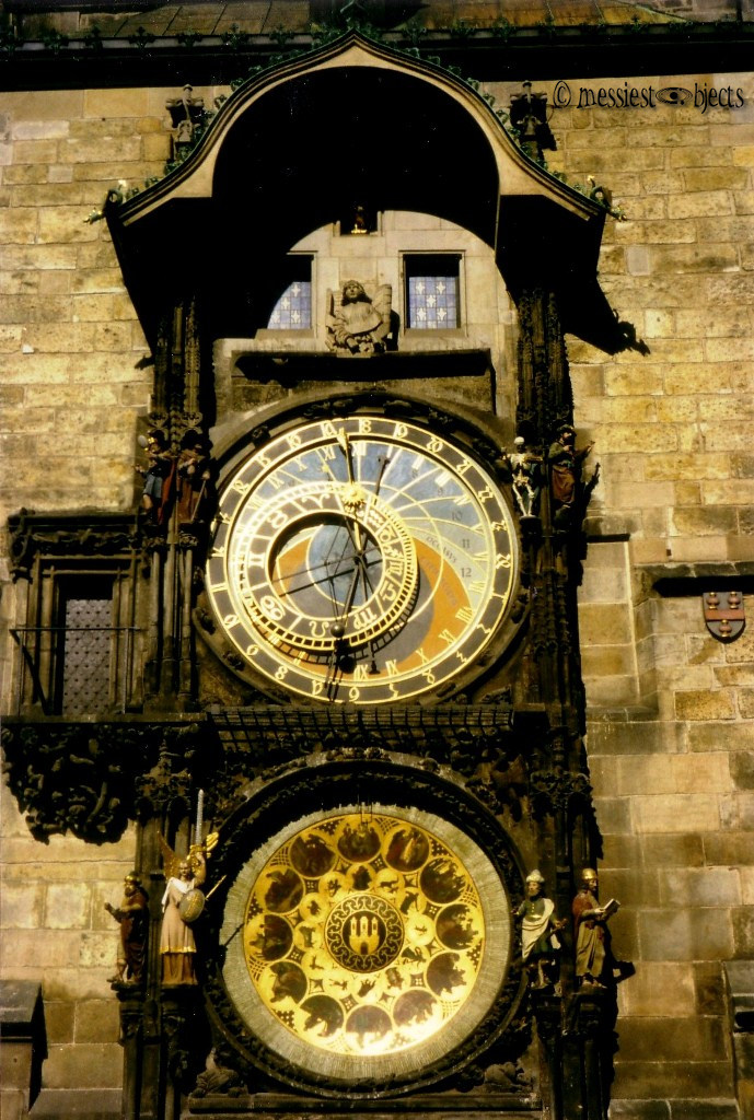 Astrological Clock in the Old Town Square of Prague Close