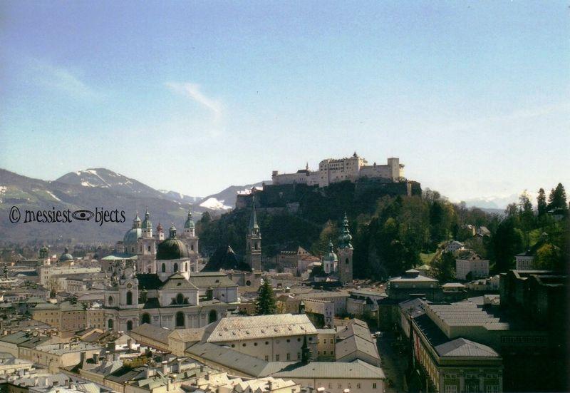 Hohensalzburg Castle overlooking Salzburg, Austria