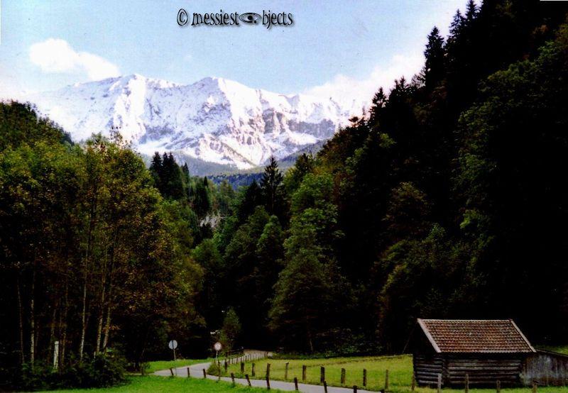 Road To a mountain gorge called the Partnachklamm