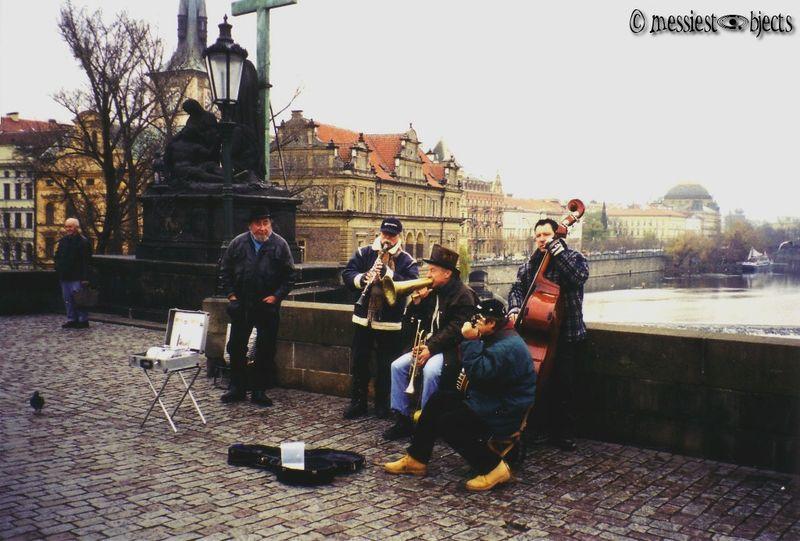 Musicians On The Karlovy Most (Charles Bridge) in Prague