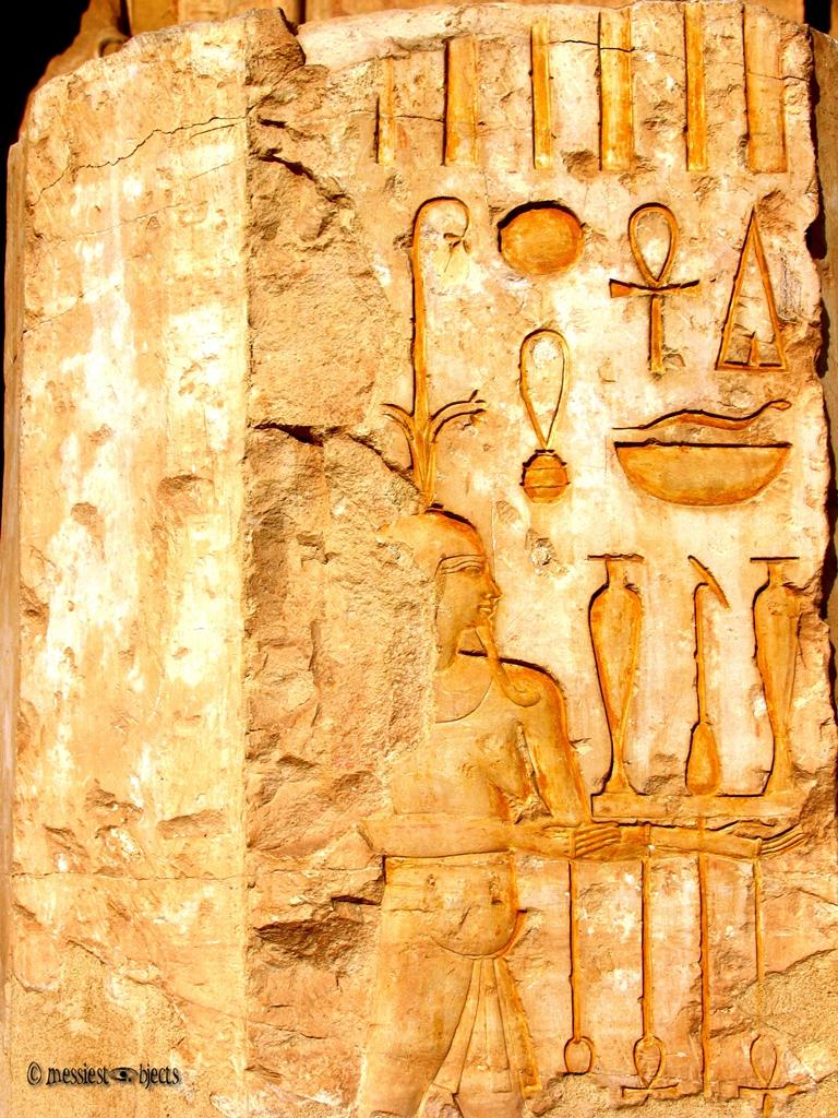 Hieroglyphics in the Temple of Hatshepsut
