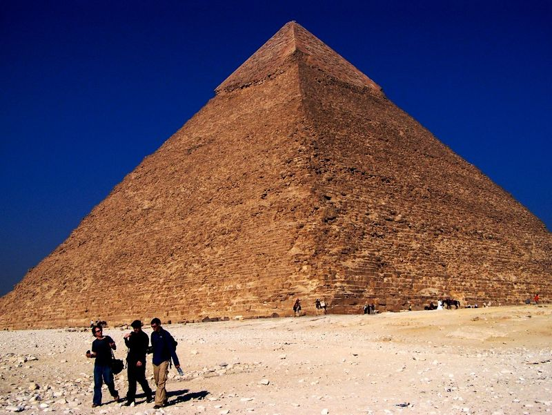 Scott, Me&Matt In Front of Pyramid of Khafre- Taken by Jeff