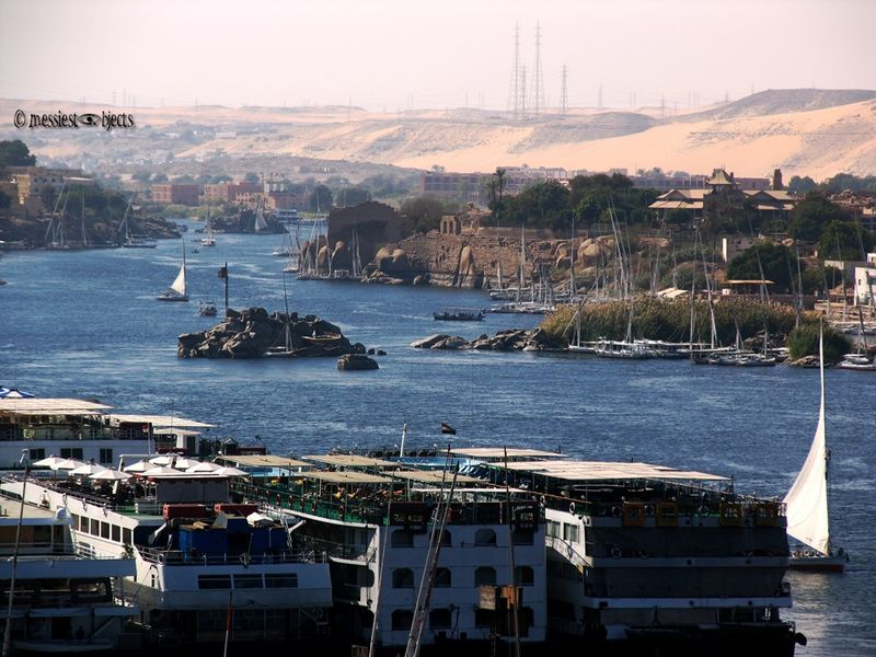 The Nile in the Town of Aswan